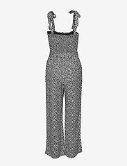 Abercrombie & Fitch - Leaf Smocked Jumpsuit - combinaisons - black print - 1