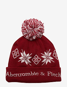 Intarsia Beanie - RED PATTERN
