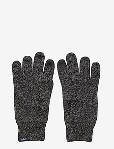 Knit Gloves - handschoenen - med grey flat