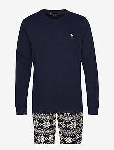 Long Slv Sleep Gift Set - pyjamas - navy pattern