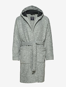 Fleece Robe - morgenkåber - med grey flat