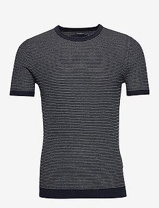 Sweater Tee - basic knitwear - navy sd/texture