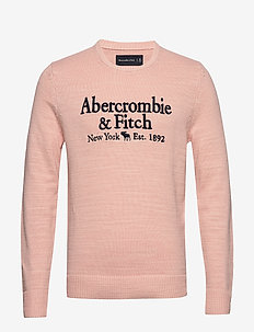 Elevated Emb Logo - knitted round necks - light pink dd
