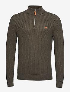 Sweater Half Zip - OLIVE DD