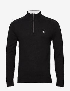 Icon Half Zip - basic knitwear - black dd
