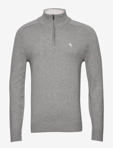 Icon Half Zip - podstawowa odzież z dzianiny - med grey flat