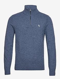 Donegal Half Zip - golfy - med blue dd