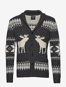 Moose Shawl - cardigan - dark grey flat