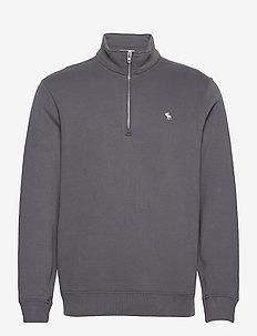 ANF MENS SWEATSHIRTS - sweats basiques - grey