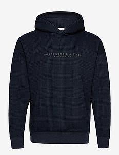 ANF MENS SWEATSHIRTS - basic sweatshirts - med blue pattern