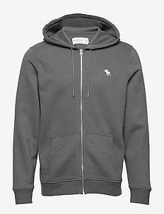 Icon Fullzip - podstawowe bluzy - med grey flat