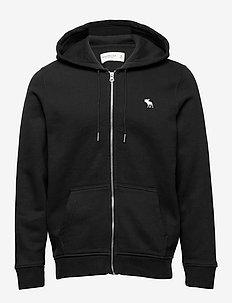 Icon Full-Zip - podstawowe bluzy - black dd