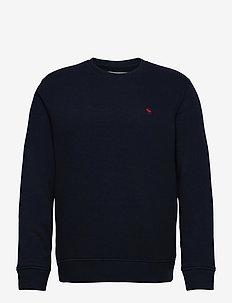 ANF MENS SWEATSHIRTS - basic sweatshirts - navy dd