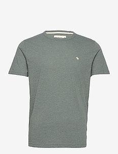ANF MENS KNITS - t-shirts basiques - mid blue