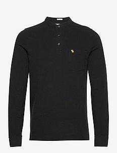 ANF MENS KNITS - half zip-tröjor - black