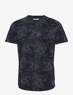 ANF MENS KNITS - t-shirts à manches courtes - blue floral