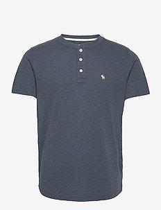 ANF MENS KNITS - t-shirts basiques - medium blue