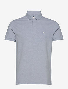 Siro Core Polo - short-sleeved polos - light blue sd/texture