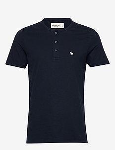 Short-Sleeve Icon Henley - basic t-shirts - navy dd