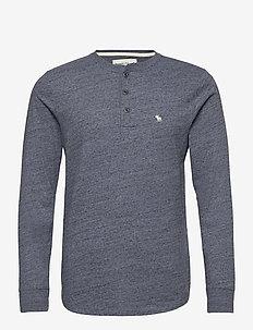 ANF MENS KNITS - basis-t-skjorter - med grey flat
