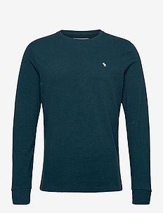 ANF MENS KNITS - basic t-shirts - navy dd