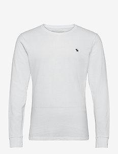 ANF MENS KNITS - basic t-shirts - white