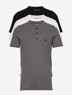 Henley Multipack - basis-t-skjorter - med grey flat
