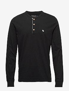 Henley - podstawowe koszulki - black dd