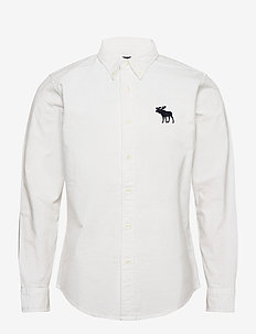 EXPLODED ICON OXFORD - casual skjortor - white