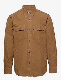 Shirt Jacket - overshirts - dark brown sd/texture