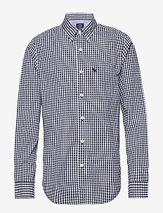 Gingham Poplin - MED BLUE PATTERN