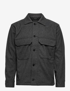 ANF MENS OUTERWEAR - tops - charcoal