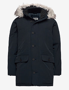 ANF MENS OUTERWEAR - parkas - navy