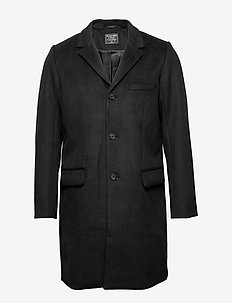 Wool Topcoat - ullfrakker - black dd