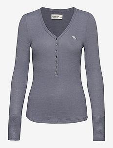 ANF WOMENS KNITS - pitkähihaiset t-paidat - light blue dd