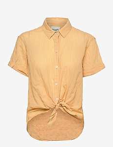 ANF WOMENS WOVENS - short-sleeved shirts - yellow