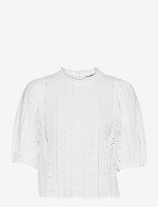ANF WOMENS WOVENS - blouses à manches longues - white cutwork