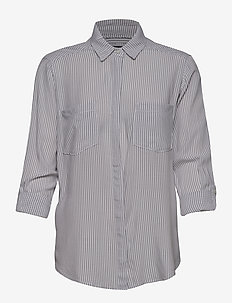 Long and Lean Shirt - WHITE STRIPE