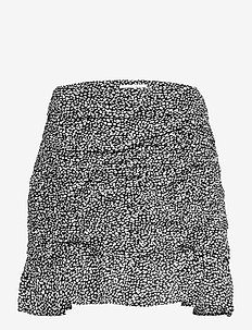 ANF WOMENS SKIRTS - short skirts - black dotted print