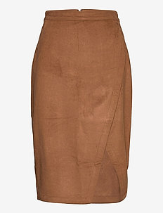 ANF WOMENS SKIRTS - midi-röcke - dark brown dd