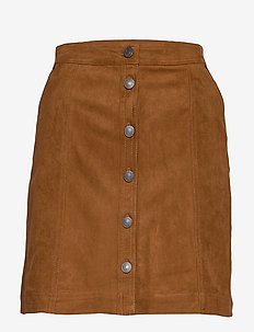 Mini skirt - LIGHT BROWN DD