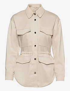 ANF WOMENS OUTERWEAR - utility jackets - cream