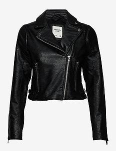 Faux Leather Moto - skinnjackor - black dd