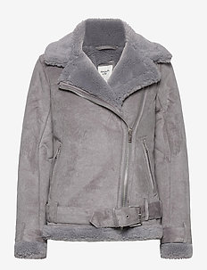 ANF WOMENS OUTERWEAR - faux fur - med grey flat