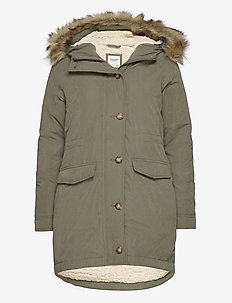 ANF WOMENS OUTERWEAR - parkaser - olive dd
