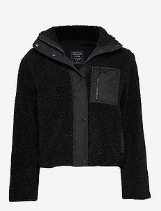 Dad Fleece Coat - BLACK DD