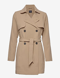 Drapey Trench - LIGHT BROWN DD