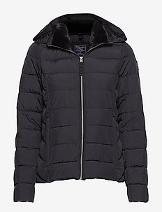 Packable Puffer Coat - BLACK DD
