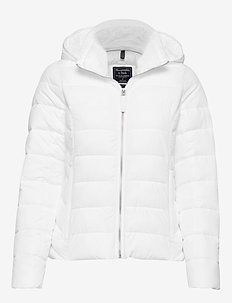 Packable Puffer Coat - WHITE