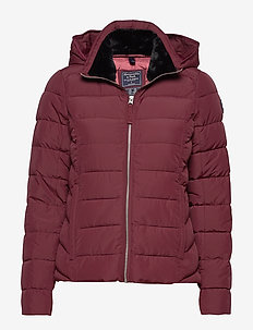 Packable Puffer Coat - BURGUNDY DD